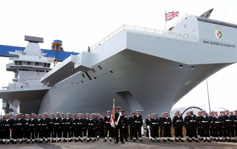 HMS Queen Elizabeth is expected to be at sea for the next month and will be delivered to the Royal Navy by the end of the year