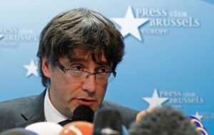 Carles Puigdemont, the former president of Catalonia, and four other ex-Cabinet members are in Belgium and ignored court summonses to appear for questioning.