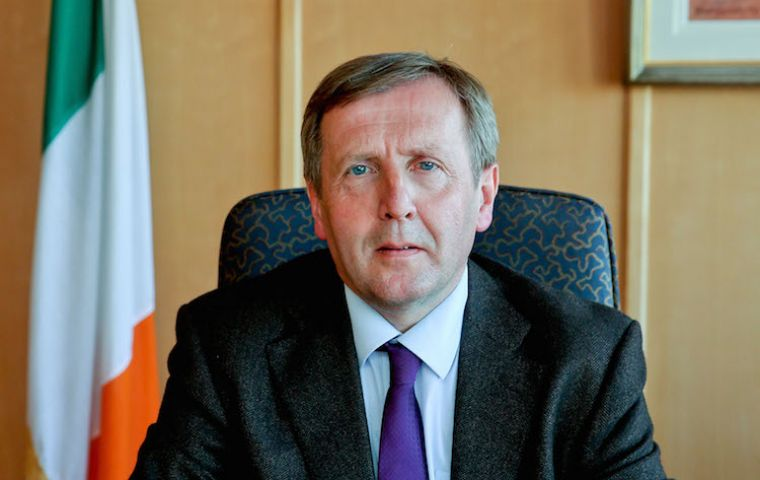 """This comes at a time when that market is in a delicate balance and is already faced with the potentially very serious consequences of Brexit"", said minister Creed"