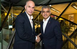 Mayor of London welcomed Mr. Horacio Rodríguez Larreta to London City Hall.