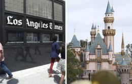 "LA Times went public about their ban in a ""note to readers"", saying it could only review's Disney's Christmas movies after they had been released publically"