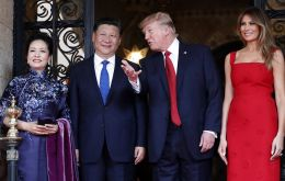 Trump spoke alongside China's president Xi Jinping on Thursday, as the US leader continued his tour through Asia.