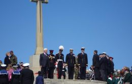 The Cross of Sacrifice where most of Sunday's solemn ceremony will be held  (Pic FITB)