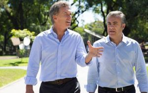 President Macri backed down from a proposed 10% tax on wine and increased tax on champagne following a private meeting with Mendoza Governor Cornejo