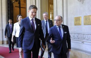 Katainen spoke after talks with Brazilian President Michel Temer and the foreign ministers of Argentina, Brazil, Uruguay and Paraguay