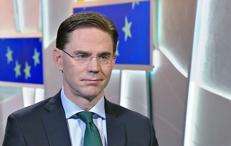 """We're that close to having a new trade accord between EU and Mercosur,"" EC Commissioner Jyrki Katainen said, holding his index and thumb slightly apart."