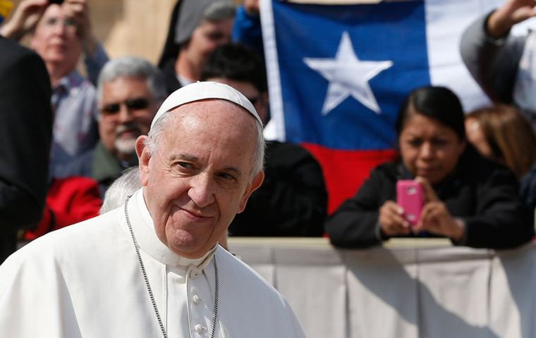 In Chile, the pope will meet with residents of the Mapuche indigenous community in the Araucania region.