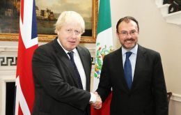Foreign Secretary Johnson during the visit of the Mexican Minister of Foreign Affairs, Luis Videgaray to the UK