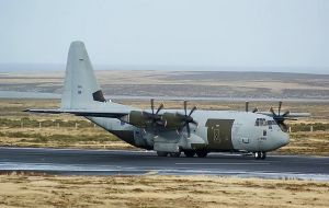 UK has offered a Hercules stationed in the Falklands