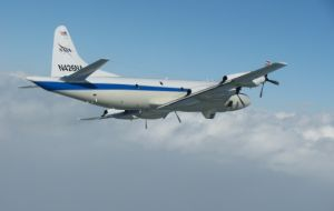 The SAR effort included four navy surface vessels, air force and navy aircraft, plus the US NASA P-3 explorer.