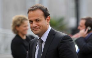 "Irish PM Leo Varadkar threatens to block progress in December without a ""written"" guarantee that there will be no ""hard border"" with Northern Ireland."