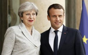 May embarked on a diplomatic offensive in Gothenburg, meeting French president Macron as well as her counterparts from Ireland, Poland and Sweden.
