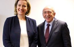 UK Home Secretary Amber Rudd met French Interior Minister Gerard Collomb in London to discuss a range of home affairs matters.