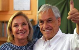 """Tonight we have achieved a great electoral result and above all because we have opened the doors which will lead us to better times,"" Piñera told supporters."