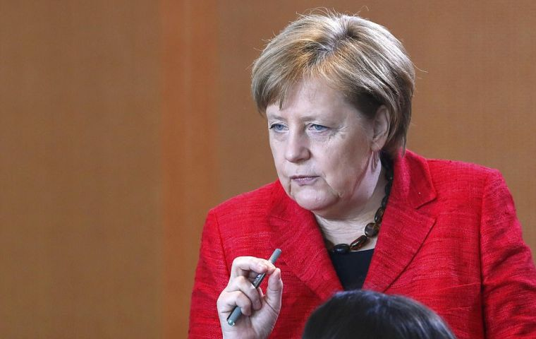 """It is a day of deep reflection on how to go forward in Germany,"" said Merkel promising to ensure ""the country is well managed in the difficult weeks to come."""