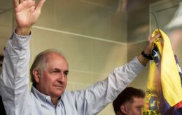 """I am going to dedicate myself to traveling the world, to spread the hope of all Venezuelans to escape this regime, this dictatorship,"" Ledezma said."