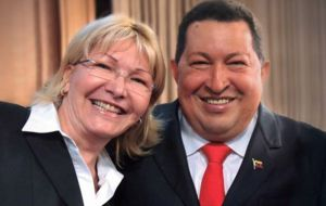 Ortega, 59, a former Chavista is a fugitive, having fled the country in August after a new loyalist assembly established by Maduro threw her out of office.