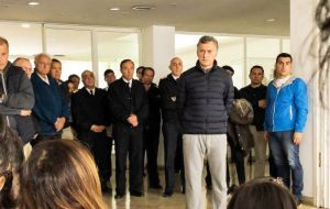 Crew members' relatives gathered at the Mar del Plata naval base, waiting for news. They were joined by President Mauricio Macri