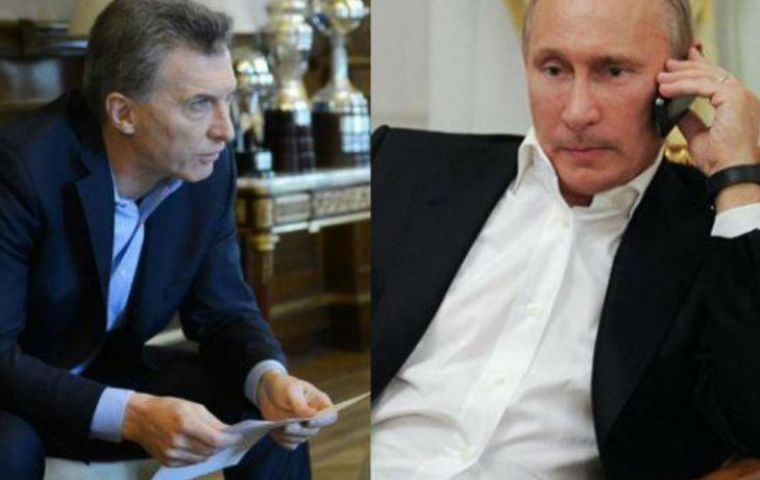 The dispatch of a high-tech oceanographic ship was the result of the long phone call between presidents Putin and Macri