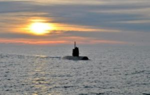 "The sound originated about 30 miles north of the submarine's last registered position, he said. ""It's a noise. We don't want to speculate"" about what caused it"