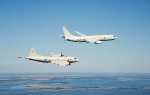 Argentine navy ships as well as a U.S. P-8 Poseidon aircraft and a Brazilian air force plane have returned to the area to check out the clue