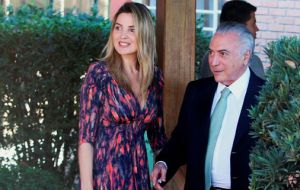 Michel Temer and his forty-year younger wife, Marcela Tedeschi Araújo