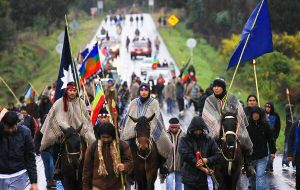 The police said the clash came after some Mapuche fled into the mountains following their eviction from national park land near Bariloche.