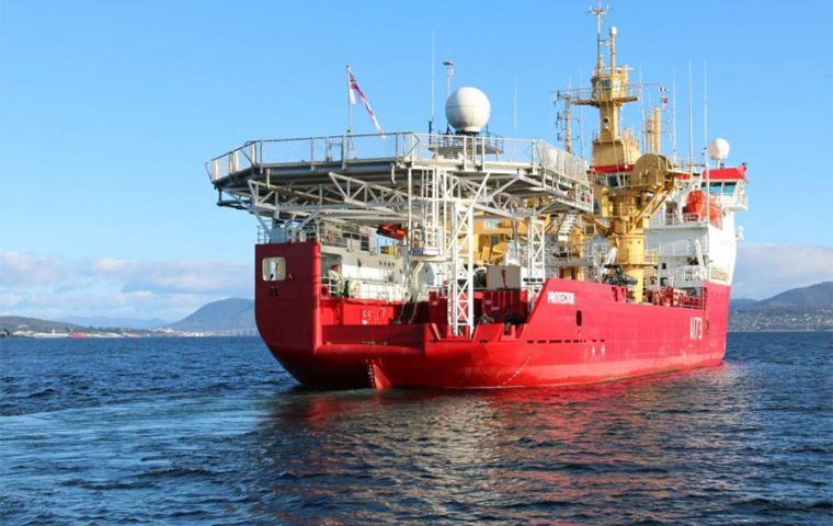 Ice patrol HMS Protector with all its sophisticated deep sea technology was among the first vessels to join the search for the missing submarine