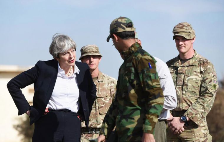 "Mrs. May on a visit to Iraq in support of UK troops said negotiations with EU are still ongoing, and ruled out paying ""huge sums of money to the EU every year""."