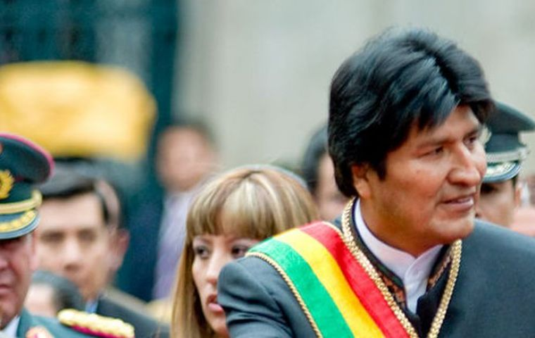 Morales, Bolivia's first indigenous president, was first elected in 2005 and re-elected in 2009 and 2014. Bolivia's constitution allows only two consecutive terms in office.