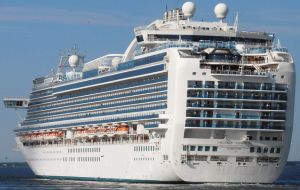 In terms of large ship visits, Emerald Princess (capacity 3,114), is due to arrive in Stanley on December 28.