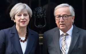 "Mrs. May is due to travel to Brussels this Monday for talks with EC president Jean-Claude Juncker, hoping the EU will agree that ""sufficient progress"" has been made"