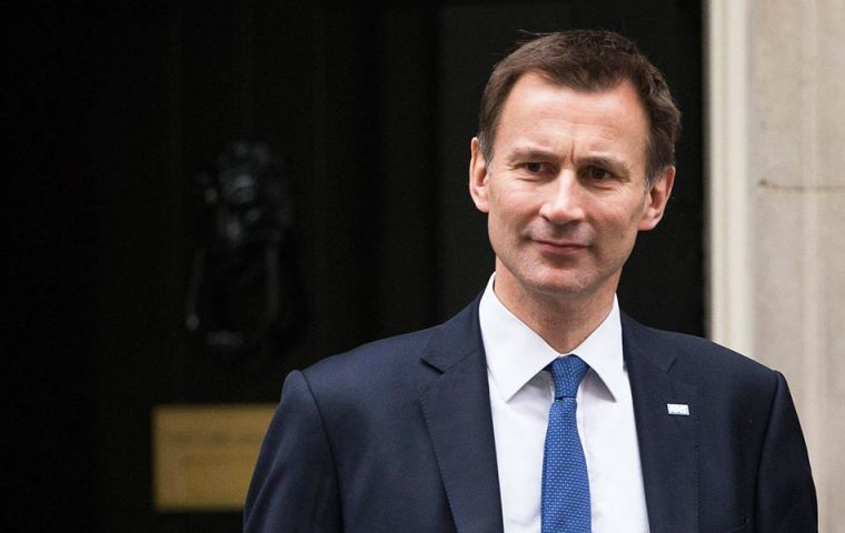 Health minister Jeremy Hunt's remark came as he defended the PM and sought to reassure critics that UK courts would be supreme after Brexit.