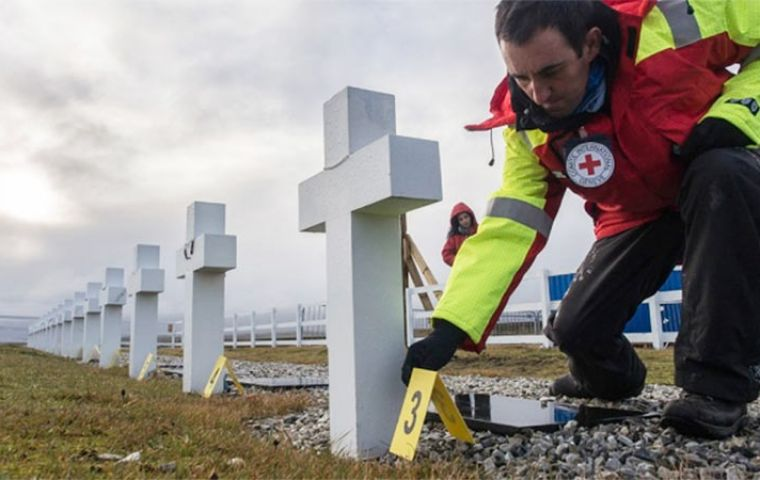 Darwin cemetery in the Falklands will in the near future have 88 crosses identified