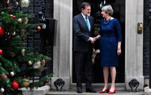 Mr Rajoy met Mrs May in Downing Street after the Prime Minister failed to clinch a deal on Monday to open talks on post-Brexit free trade with the EU.