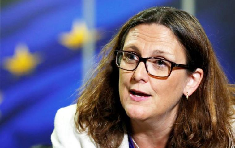 "EU Trade Commissioner Cecilia Malmstrom said parties are close to an agreement, ""we are committed to doing this because we are almost there"""