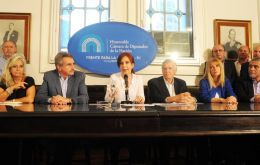 Fernandez called a news conference in Congress to deny wrongdoing and accuse Bonadio and President Mauricio Macri of degrading the judiciary.