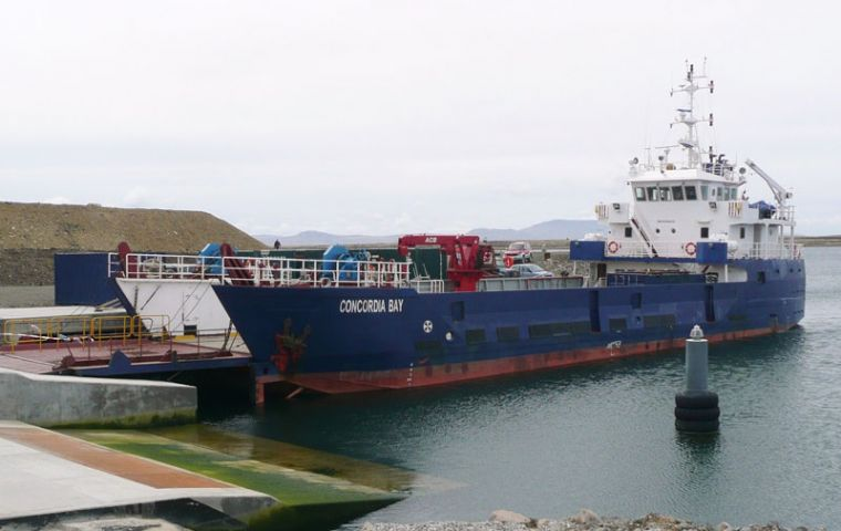 Concordia Bay will be held in dry dock in Punta Arenas during December so that essential works can be carried out to resolve existing technical issues.