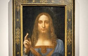 "Leonardo Da Vinci's ""Salvator Mundi,"" was sold last month at a Christie's auction for US$ 450 million, the most ever paid for a work of art."