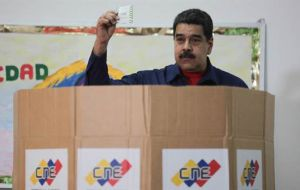 While municipal elections were under way across the country, the Maduro clearly had his mind on the 2018 presidential race in which he plans to seek reelection