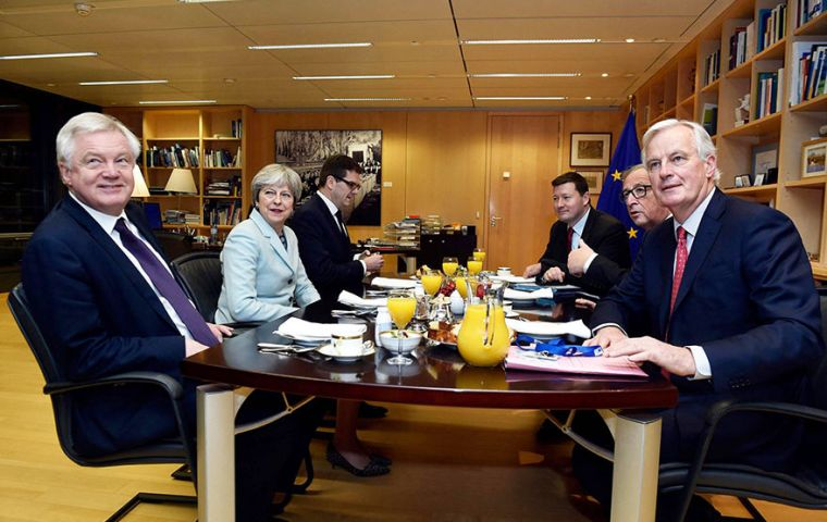 The meeting comes after Theresa May made an agreement with European leaders to allow negotiations to proceed.