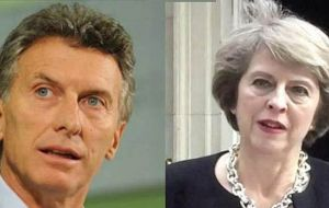 Macri on his side thanked PM May for the British effort as part of the international operation which collaborated in the search of the missing vessel.