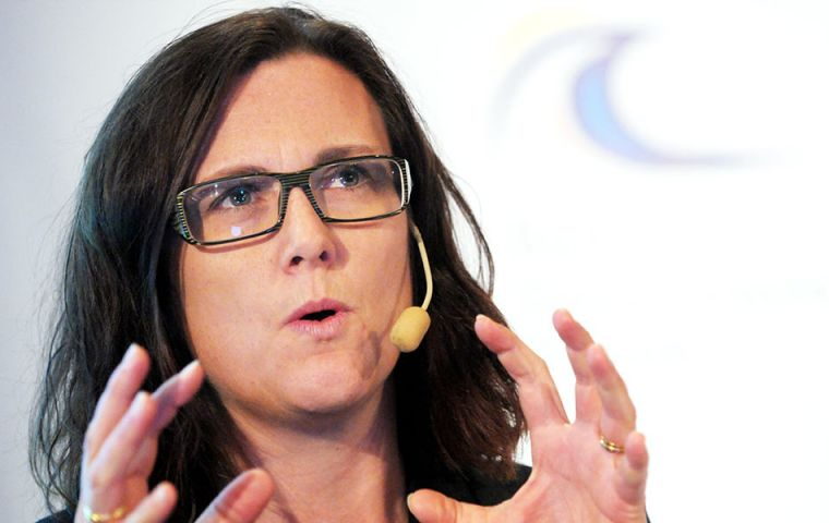 EU Trade Commissioner Malmstrom said China's industry subsidies, including for aluminum and steel, were flooding global markets and hurting European workers