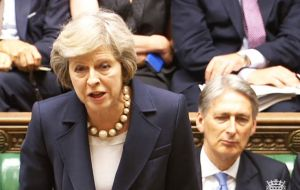 The government has no majority in the Commons and is vulnerable to a revolt by its MPs. Theresa May said the government was listening to MPs' concerns.