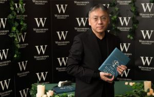Literature laureate Kazuo Ishiguro of Britain expressed concern about increasing tensions between social factions. Pic. Getty Images