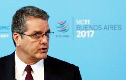 """We are disappointed. Despite our efforts, members failed to reach any significant agreements,"" said WTO Director-General Roberto Azevedo."