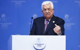 "Palestinian President Mahmoud Abbas at OIC summit in Istanbul said it would be ""unacceptable"" for the US to be the mediator ""since it is biased in favor of Israel"". Pic Getty Images"