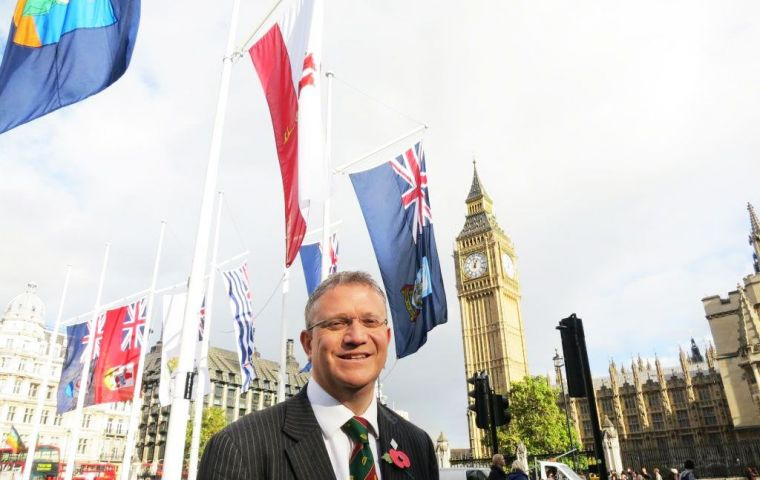 Rosindell has called for the territories to be dealt with by a single UK government department and recognised as equal members of the British family