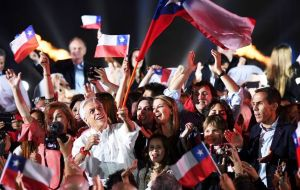 The results prompted Piñera supporters to celebrate in streets nationwide waving flags and holding banners, while others beeped car horns