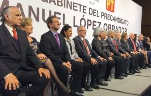 AMLO proposed a cabinet of eight men and eight women, including a onetime interior minister for the PRI and a respected former supreme court judge.